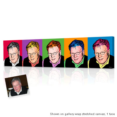 Personalized Pop Art Photo | Warhol style 5 panels