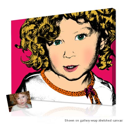Personalized Pop Art Photo | Warhol style 1 panel
