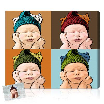 Personalized Pop Art Photo | Warhol style 4 panels