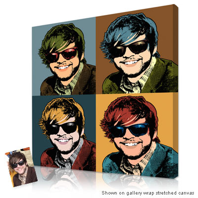 Personalized Pop Art Photo | Warhol style 4 panels