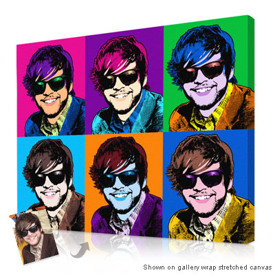 Personalized Pop Art Photo | Warhol style 6 panels