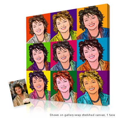 Personalized Pop Art Photo | Warhol style 9 panels
