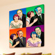 Warhol style 4 panels - Couples