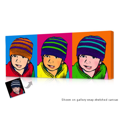 Personalized Pop Art Photo | Warhol style 3 panels