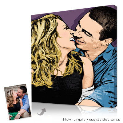 Personalized Pop Art Photo | Warhol style couple