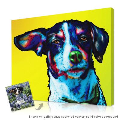 Personalized Pop Art Photo Pet Glo 174 Portrait