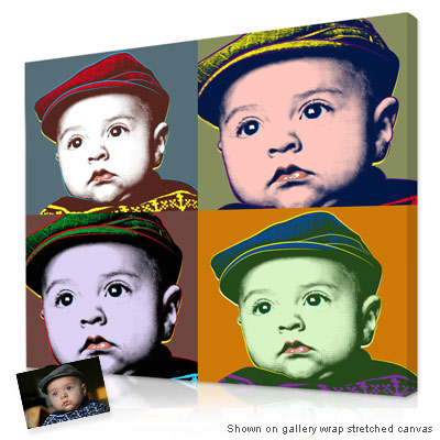 Personalized Pop Art Photo | Classic Warhol Pop Art