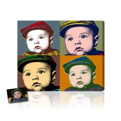 Personalized Pop Art Photo | Classic Warhol Pop Art