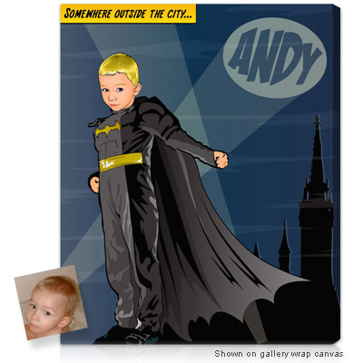 Personalized Pop Art Photo | Bat Heroes�