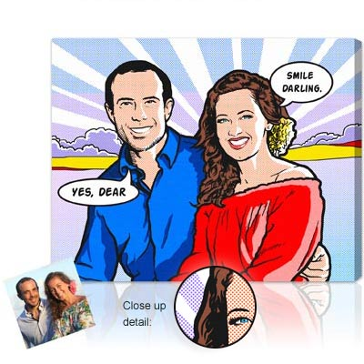 Personalized Pop Art Photo | Classic Comic Pop Art - Lichtenstein