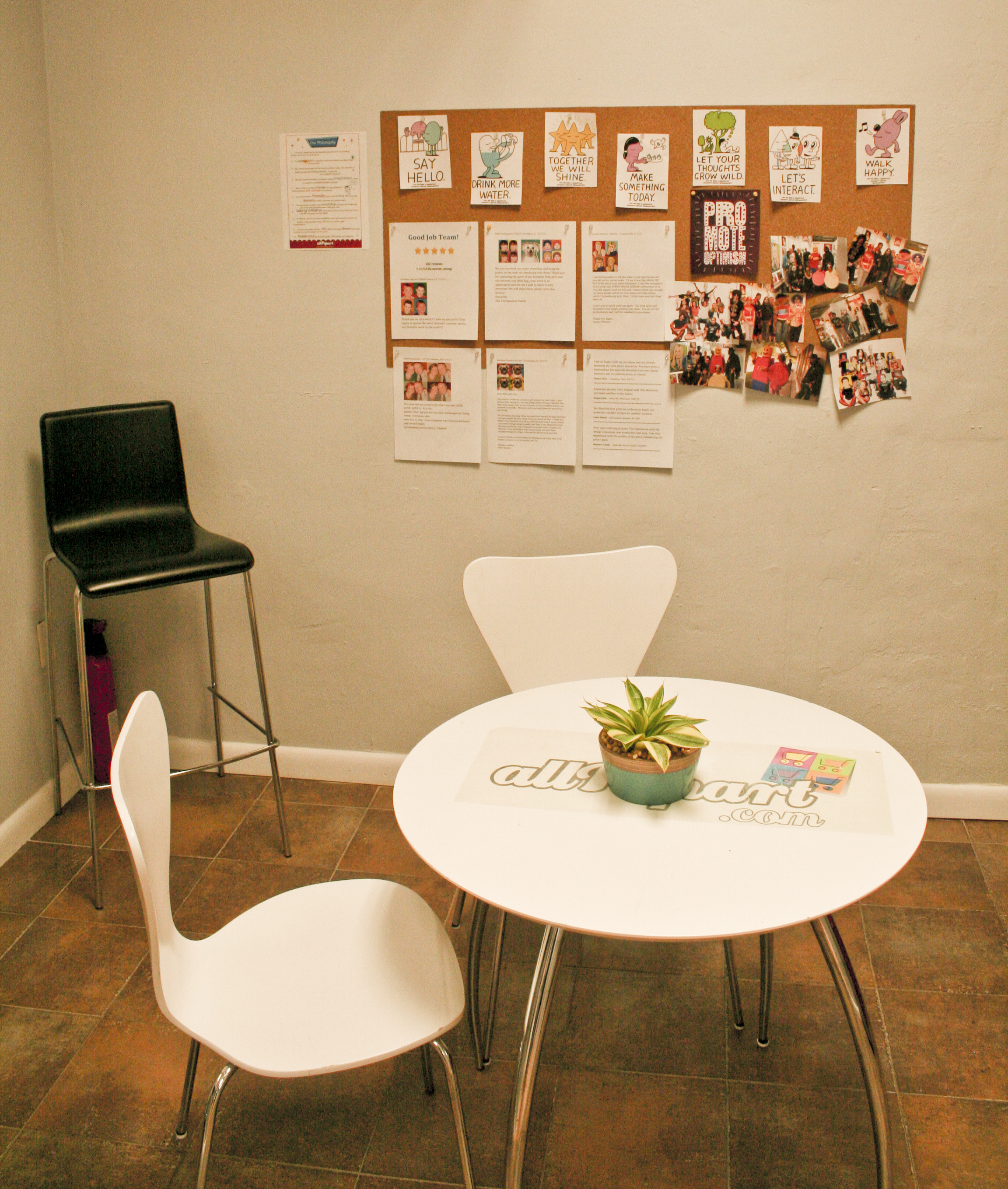 Employee Break Room Ideas http://allpopart.com/blog/2011/09/top-10-ideas-to-decorate-your-studio-or-office/