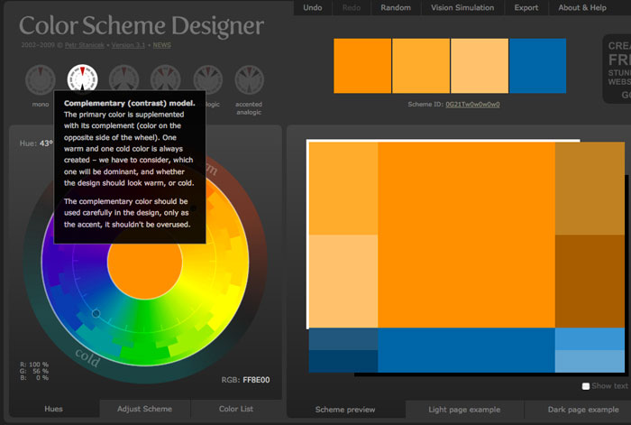 how to find complimentary colours for brand