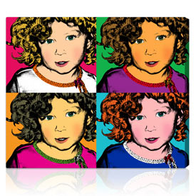 Popular Warhol style Holiday gift 42x52 inches on stretched canvas