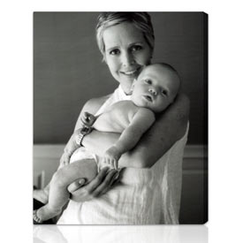 Custom photo to canvas family Holiday gifts 26x32 inches on stretched canvas