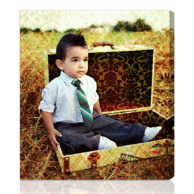 Artist Touch� custom photo gift 10x13 inches on stretched canvas
