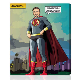 Superhero comic gifts for guys 16x20 inches on rolled paper