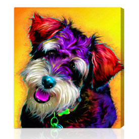 Pet-glo™ custom gift on canvas 26x32 inches on stretched canvas