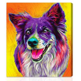 Pet-glo™ custom gift on canvas 36x44 inches on stretched canvas