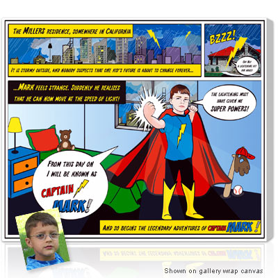 Personalized Pop Art Photo | lichStyle 1 face - Kids Superhero - Super power