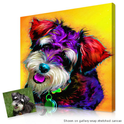 Personalized Pop Art Photo | Pet glo® portrait