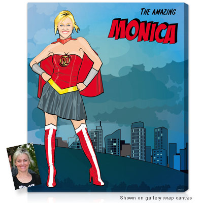 personalized pop art photo superhero