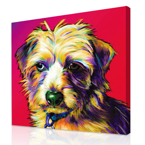 Pet paintings from your dog or cat photos for Painting of your dog