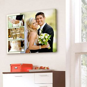 Wedding Photo Collage On Canvas