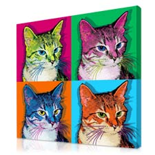 cat pop art pictures from your photo unique gifts for people