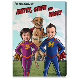 comic book artwork gifts superhero gifts on canvas